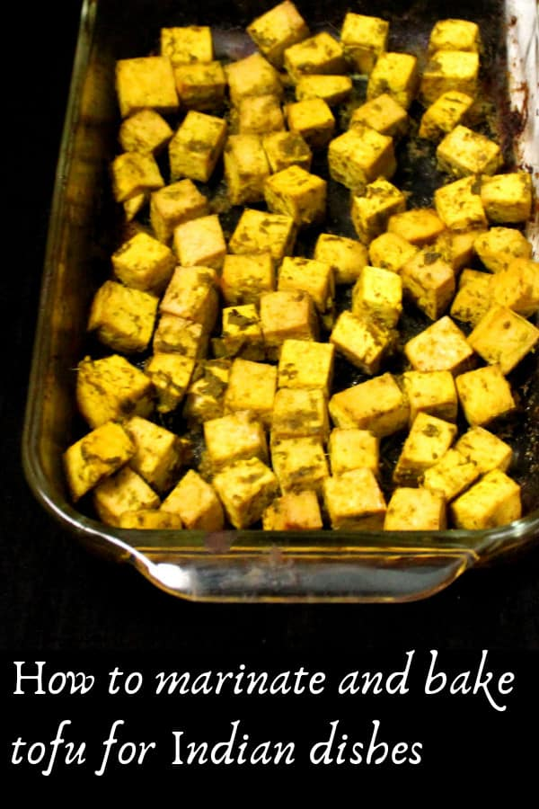 How to marinate and bake tofu for Indian dishes