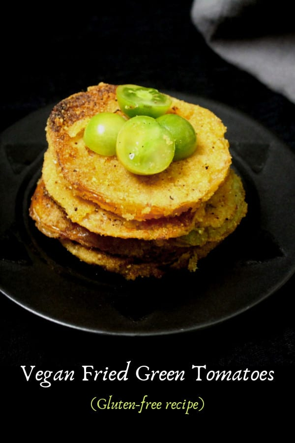 Vegan fried green tomatoes