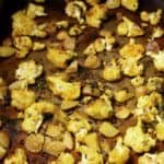 Cauliflower roasted with potatoes
