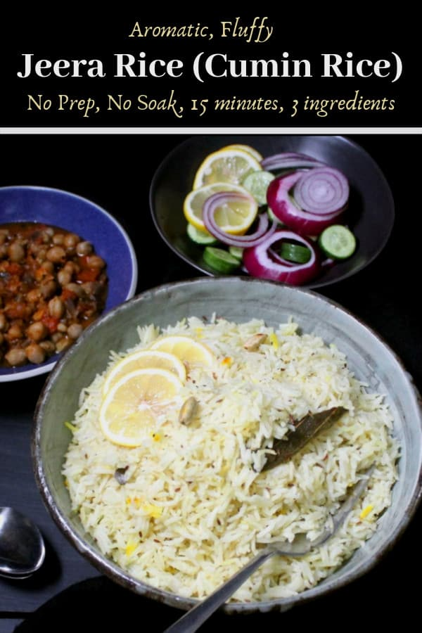 Jeera rice or Indian cumin rice, an aromatic rice with cumin hugging fluffy grains of basmati
