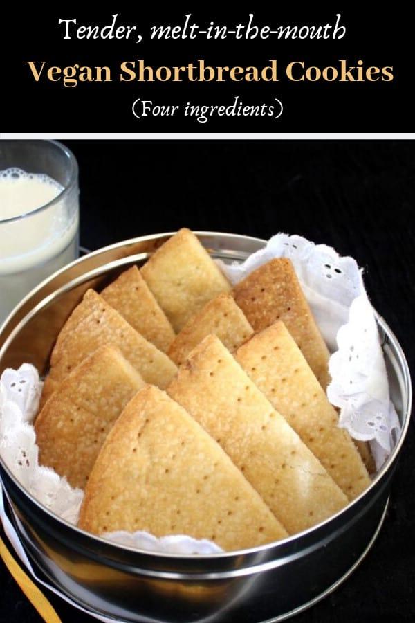 Classic vegan Scottish Shortbread Cookies