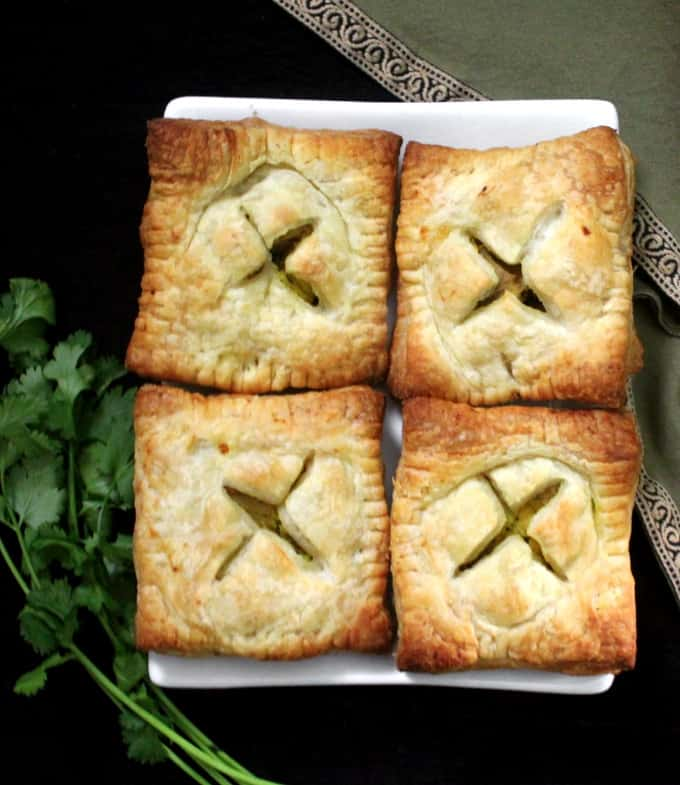 Crispy, golden Samosa Pastry Squares with Puff Pastry Sheets