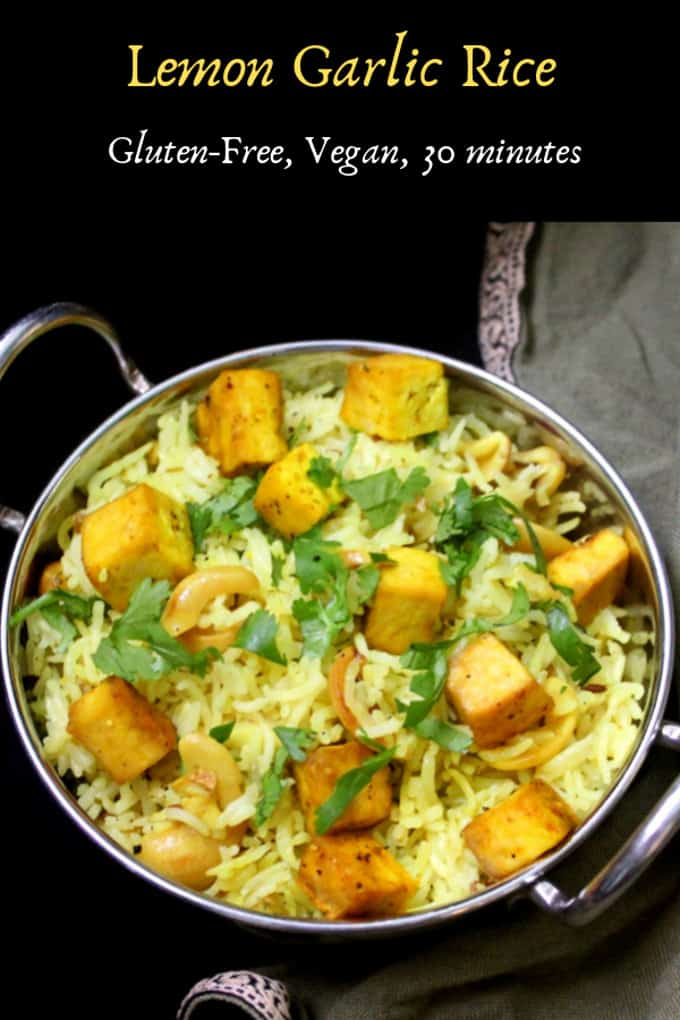 Photo of Lemon Garlic Rice, gluten-free, vegan, can be nut-free and soy-free