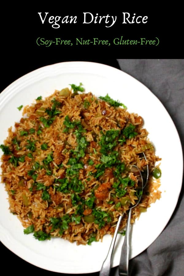 Dirty Rice Recipe with beyond meat sausage, vegan, gluten-free, soy-free