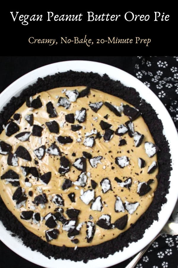 Vegan Peanut Butter Pie, fun and delicious and easy enough for a kid to make