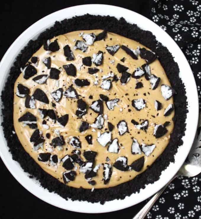 Vegan Peanut Butter Oreo Pie