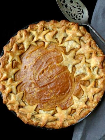 Vegan Sweet Potato Pie. This pie slices beautifully, looks gorgeous, and tastes like a slice of heaven.
