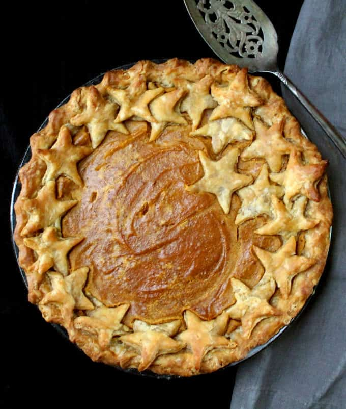 Vegan Sweet Potato Pie. This pie slices beautifully, looks gorgeous, and tastes like a slice of heaven.