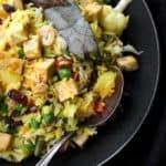 Navratan Pulao, an Indian vegetarian rice dish