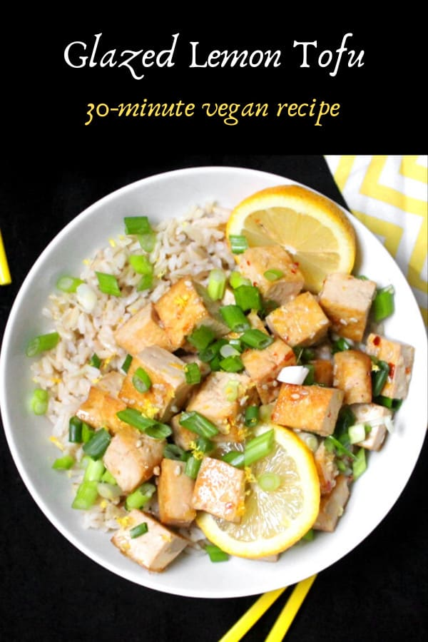 Vegan Glazed Lemon Tofu