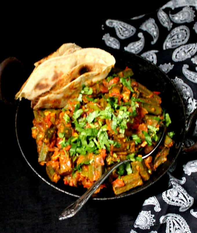 Stir Fry Okra Masala or bhindi masala