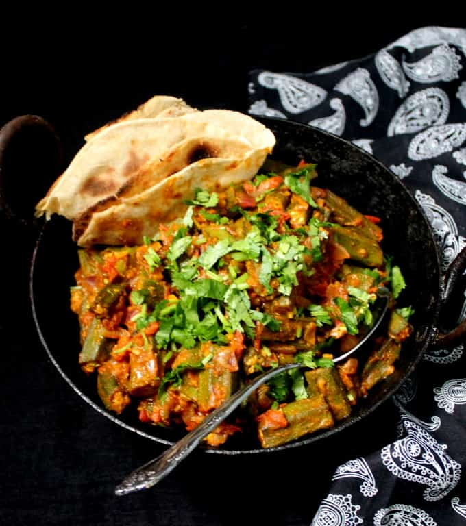 Bhindi masala or Indian okra masala