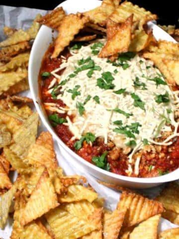 Vegan Lasagna Dip and Chips