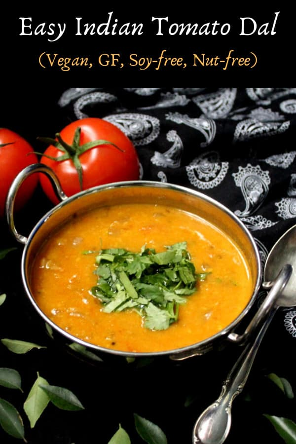 Easy Indian Tomato Dal
