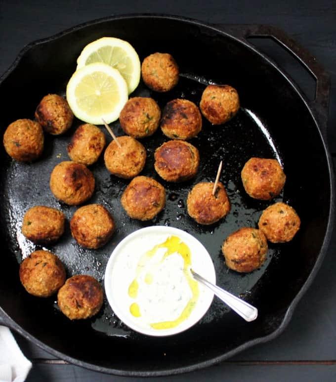 Vegan harissa meatballs