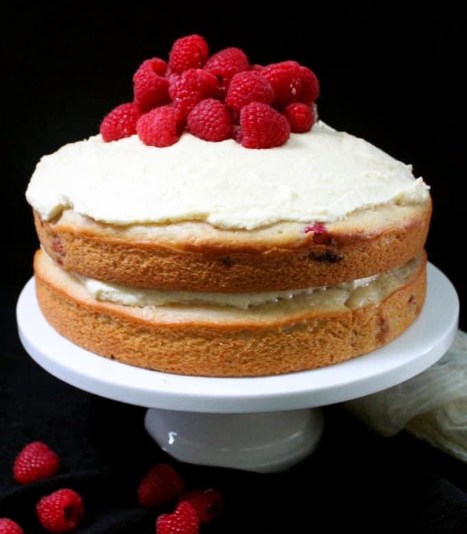 Magnificent Vegan White Chocolate Raspberry Cake Holy Cow Vegan Recipes Funny Birthday Cards Online Alyptdamsfinfo