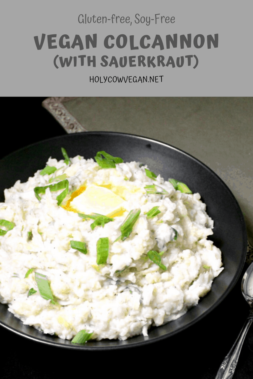 Put a tasty twist on your Vegan Colcannon this St. Patrick's Day by stirring in a spot of sauerkraut into this creamy potato mash. You'll be wishing you made more. A gluten-free, soy-free recipe, can be nut-free.