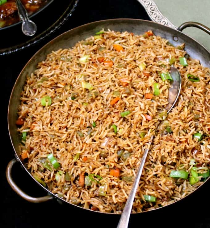 Veg Fried Rice Recipe Holy Cow Vegan Recipes