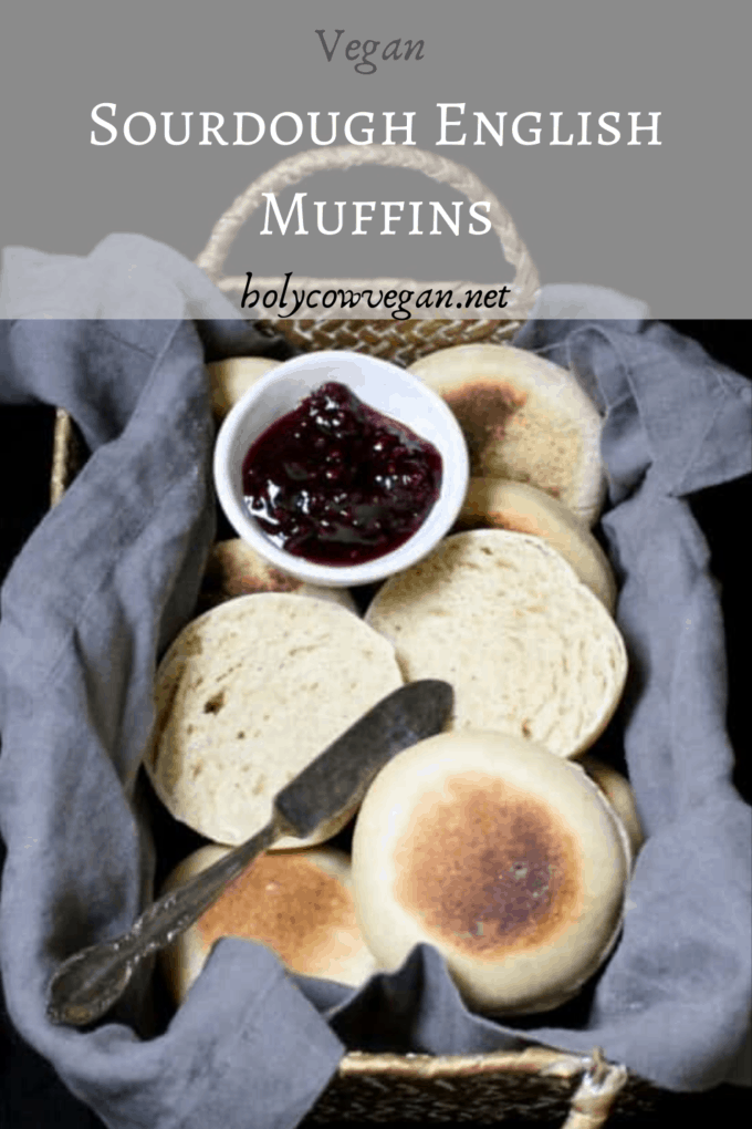 Sourdough English Muffins, light and fluffy and healthy