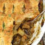 "Image of vegan pot pie with inlay text that says ""the best vegan pot pie"""