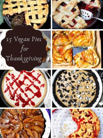 Vegan pies for Thanksgiving