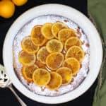 Gluten-free, vegan Clementine Cake on a plate