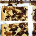 Vegan Caramelized Onion Tart with Olives
