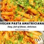 Vegan Pasta Amatriciana