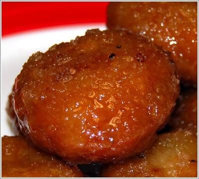 Photo of badusha. a south Indian sweet, on a plate