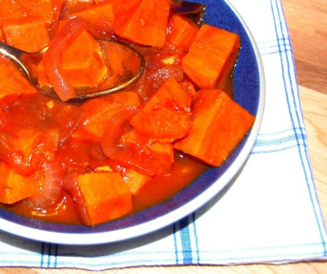 Photo of spicy braised sweet potatoes