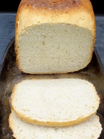 A sliced loaf of machine sourdough bread
