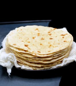 A stack of soft rotis