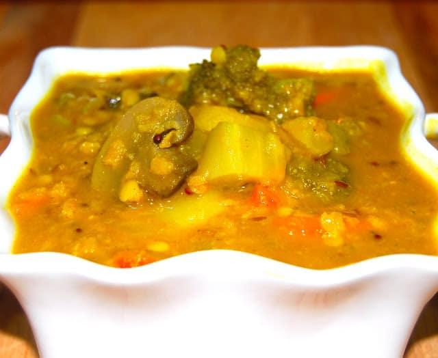 Photo of stir-fry veggie sambar