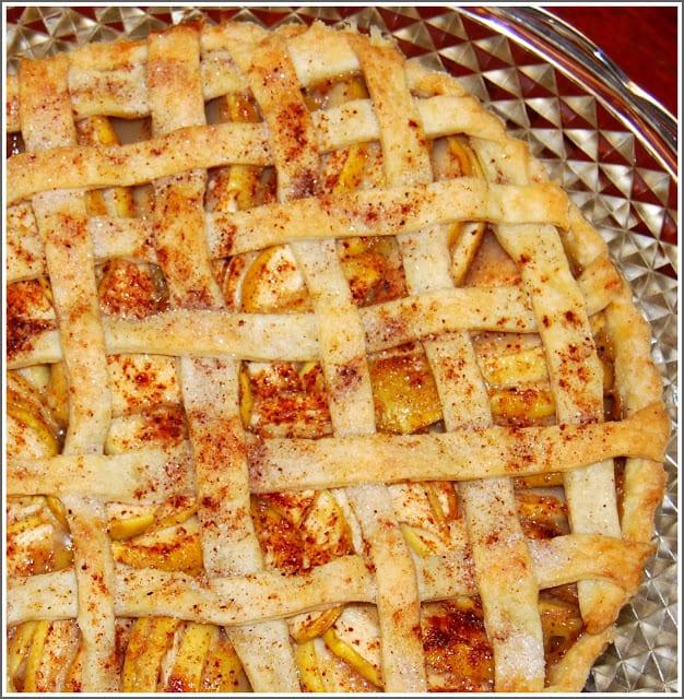 Photo of vegan apple tart
