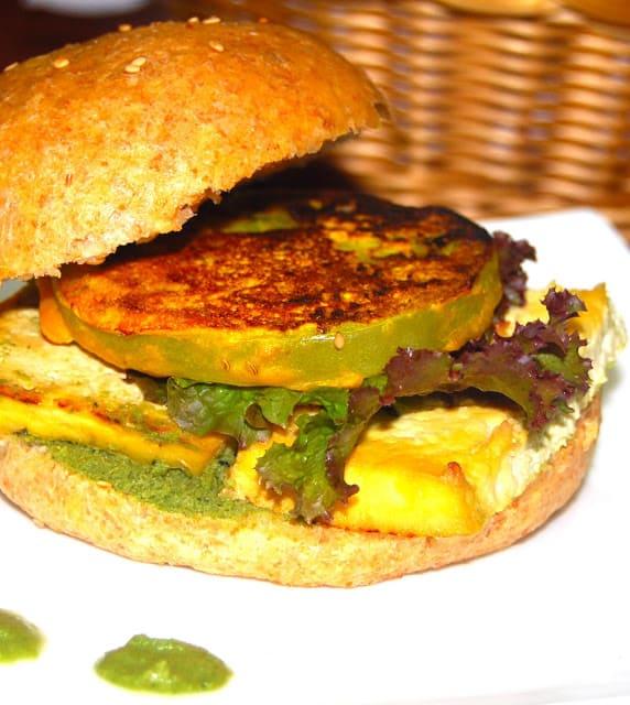 Photo of vegan BLT sandwich