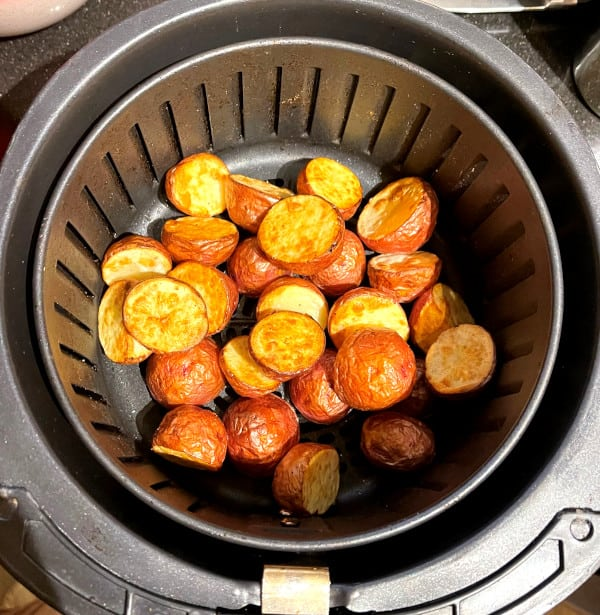 Air fried potatoes for dum aloo biryani