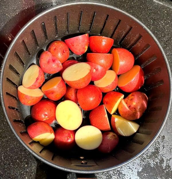 Potatoes for dum aloo biryani