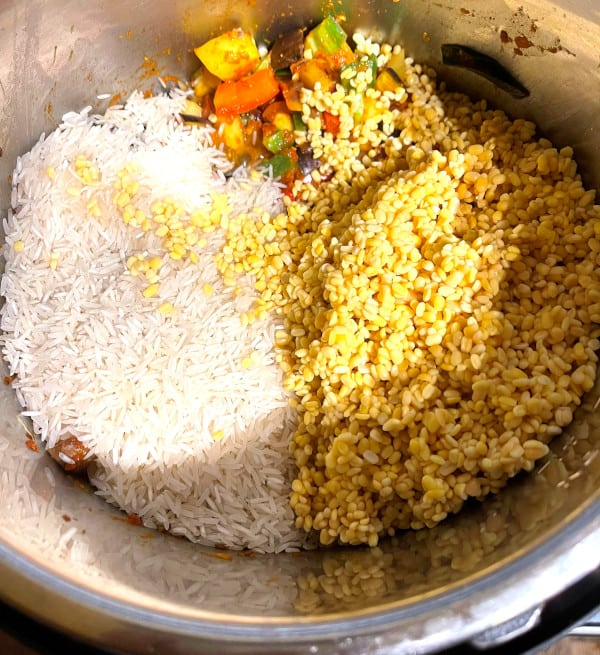 Dal and rice for khichdi in Instant Pot